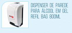 Dispenser de Parede para Álcool em Gel com Refil
